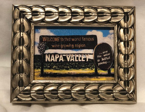 Welcome to the Napa Valley framed print