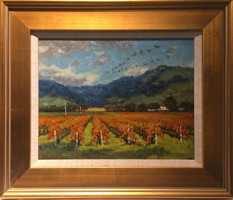 "Wine Country in the Fall 11 x 14"" original oil"