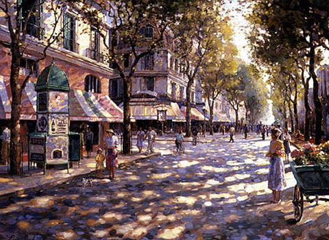 Cafe Francais - Canvas Print