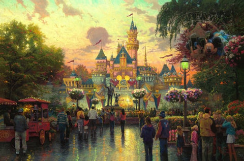 Disneyland 50th Anniversary by Thomas Kinkade