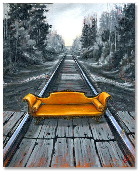 "Roads of Experience 36x30"" oil on canvas artist framed"