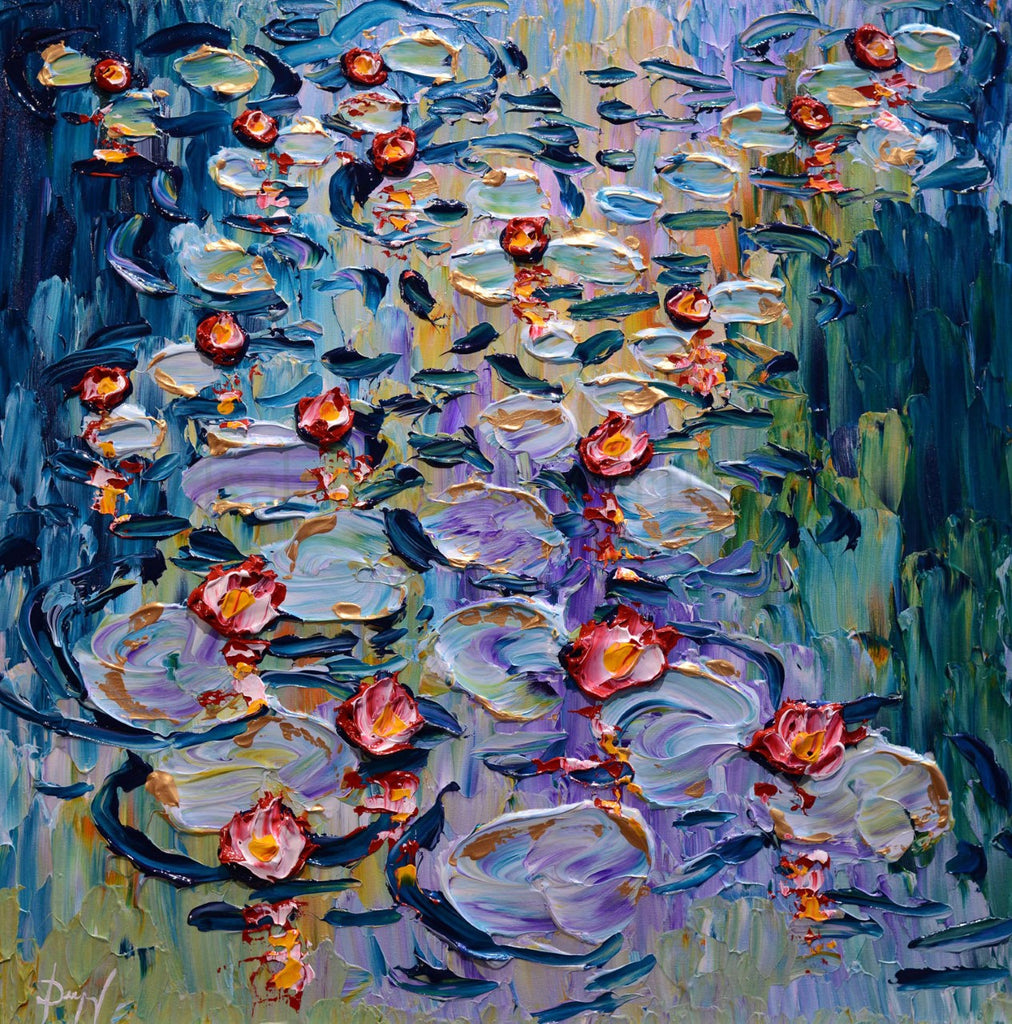 Water Lilies in Flourishing Waters by Isabelle Dupuy at Gallery 1870