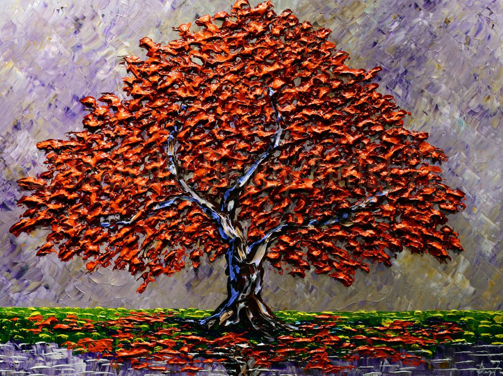 "Maple Tree of Colorful Autumn 36 x 48"" original"