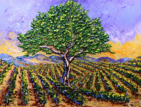 "Bright Vineyards of New Harvest 36 x 48"" original by Isabelle Dupuy"