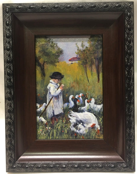 Girl with Geese #8197