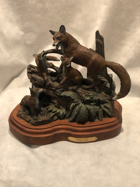 Foxy Lady bronze sculpture