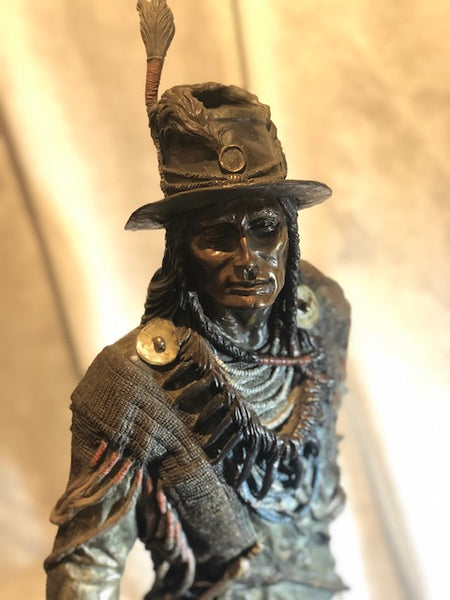 The Dandy - bronze sculpture of Chief Looking Glass