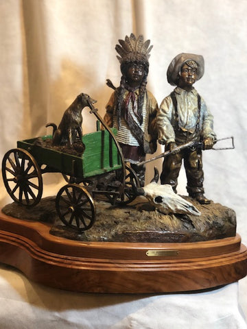 The Buffalo Hunters bronze sculpture
