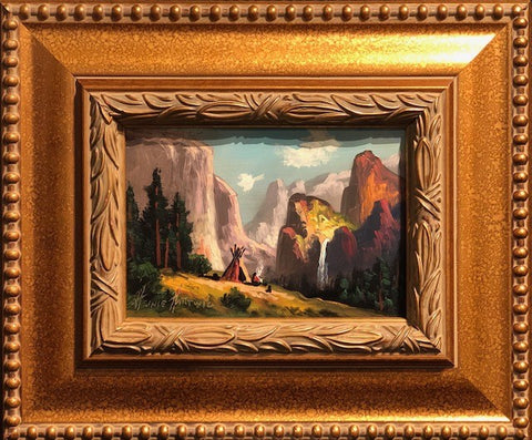 "Yosemite Valley Basecamp 5x7"" original oil"