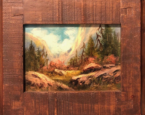 "Peaceful Retreat Bounty 5x7"" original oil"