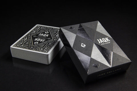 Black JAQK Cellers - Limited Edition (Theory11) - long sold out! - UnitedCardists deck sales; playing cards;  cards; decks; spielkarten; david blaine; white lion series a red; white lion series a ultraviolet; split spade prototypes; playing cards;  cards; decks; spielkarten; david blaine; white lion series a red; white lion series a ultraviolet; split spade prototypes - 1