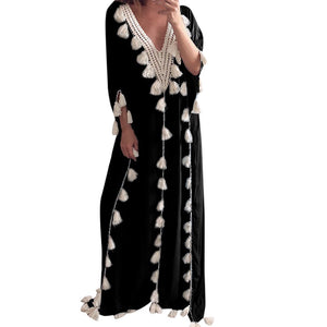 CARTHAGE Tassels Kaftan Long Dress