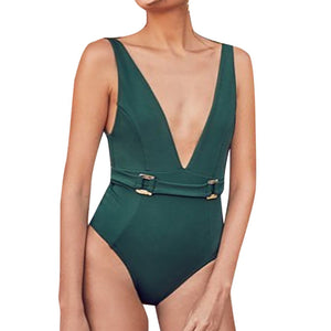 ARMI Deep V-Neck One-Piece Swimsuit