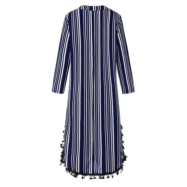 DIANA Pom Pom Long Tunic Kaftan Cover-Up Dress