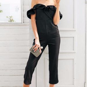 ERNY Off-Shoulder Ruffle Long Jumpsuit