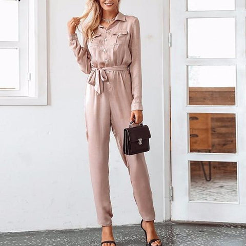 RISSA Long Sleeves Safari Jumpsuit