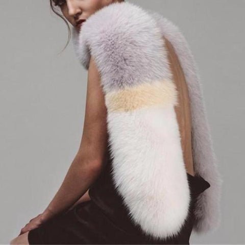 LOUP Faux Fox Fur Shawl Scarf