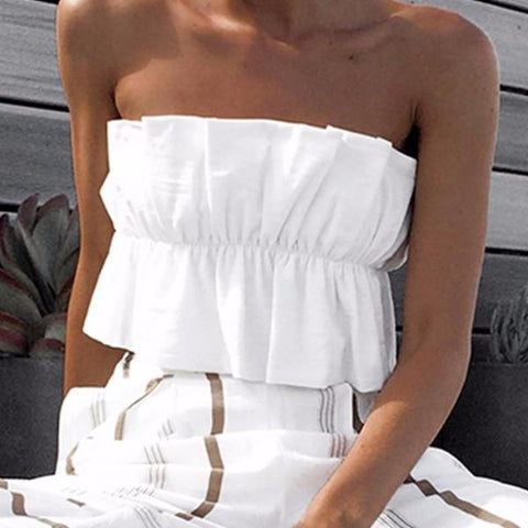 LILY Pleated Tube Top