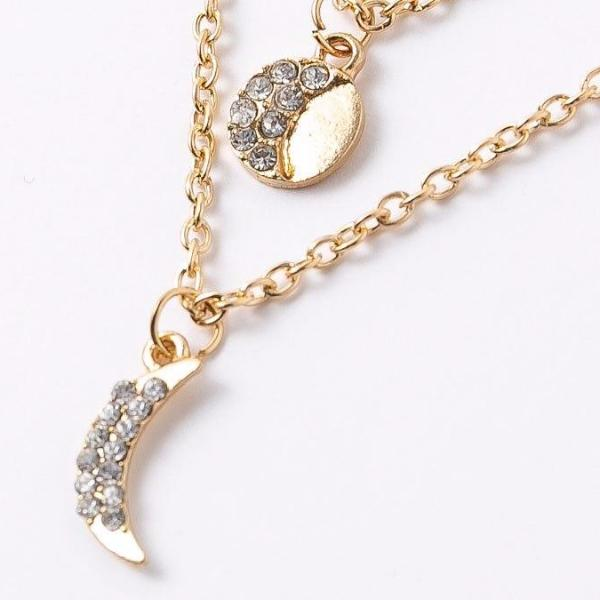 LUNAR Multi-Layers Crescent Moon Stars Necklace