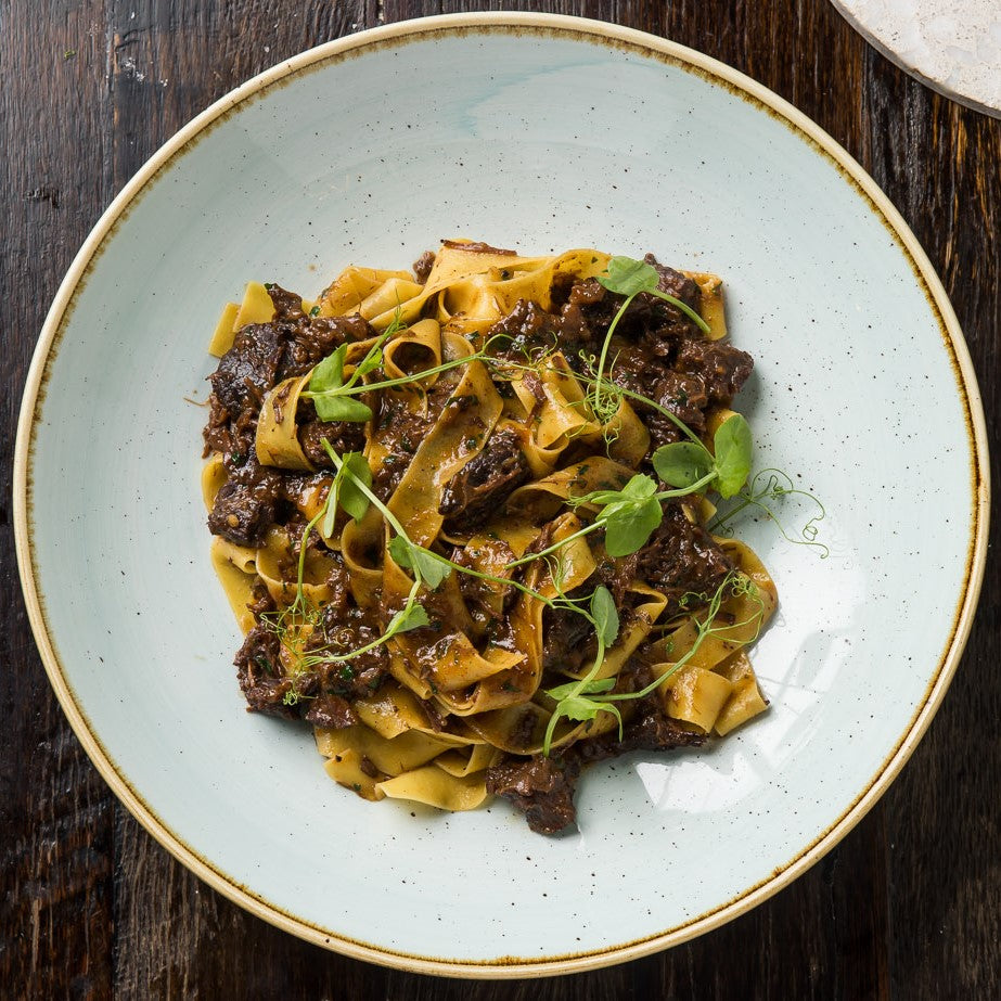 Slow-Cooked Beef Cheek Ragu with Egg Pappardelle and Parmesan Meal Kit for 2