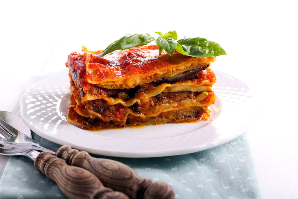 Vegetarian Lasagne Family Size With Wine
