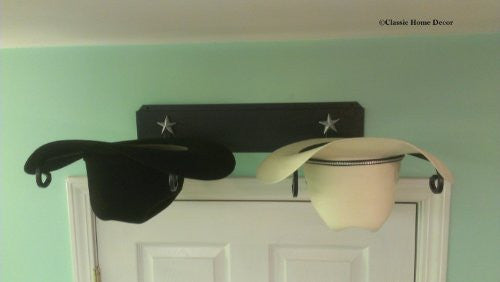 Western Hat Holder 666 STAR BLK
