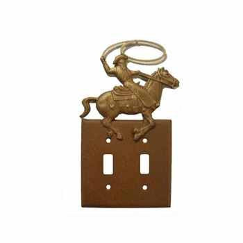 Double Switch Plate Cowboy Roper