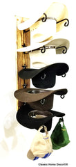 American Made Cowboy Hat Racks with STARS Charred 5 Tier