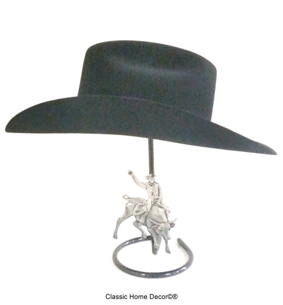 581aa67eb9c Cowboy Hat Stand with Bull Rider Black – Cowboy Hat Holders Superstore