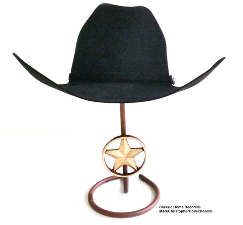 American Made Cowboy Hat Stand with Lone Star CT