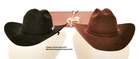 American Made Cowboy Hat Holder Double with Stars  6622 Bronc