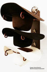 Cowboy Hat Holder with Cast Iron Lone Star American Made