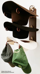 American Made Cowboy Hat Holder with Cast Iron Lone Star 3 Hat