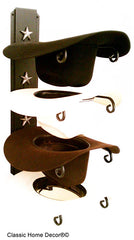 American Made Cowboy Hat Holder Star Holds 4 Hats 664 USA