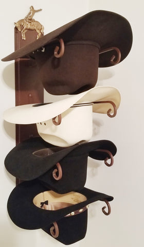 American Made Hat Holder 664 Classic with Bucking Bronco CT