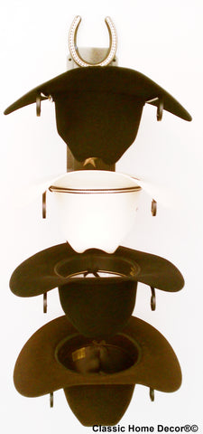 "Cowboy Hat Holder with Genuine ""Lucky Horseshoe""Rust 664 HSBLING CT"