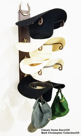"American Made Cowboy Hat Holder Genuine ""Lucky"" Horseshoe American Made 4 hat"