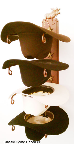 Cowboy Hat Holder Moose Rust American Made