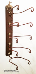 Cowboy Hat Holder Bronc with Gold Stars