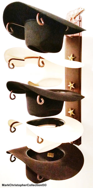 Cowboy Hat Holder Bear with Gold Stars