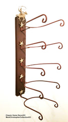 Cowboy Hat Holder Roper with Gold Stars