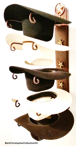 Cowboy Hat Holder Lone Star with Gold Stars
