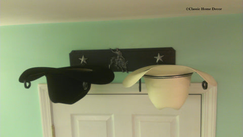 Western Hat Holder 666 Bull Rider STAR BLK