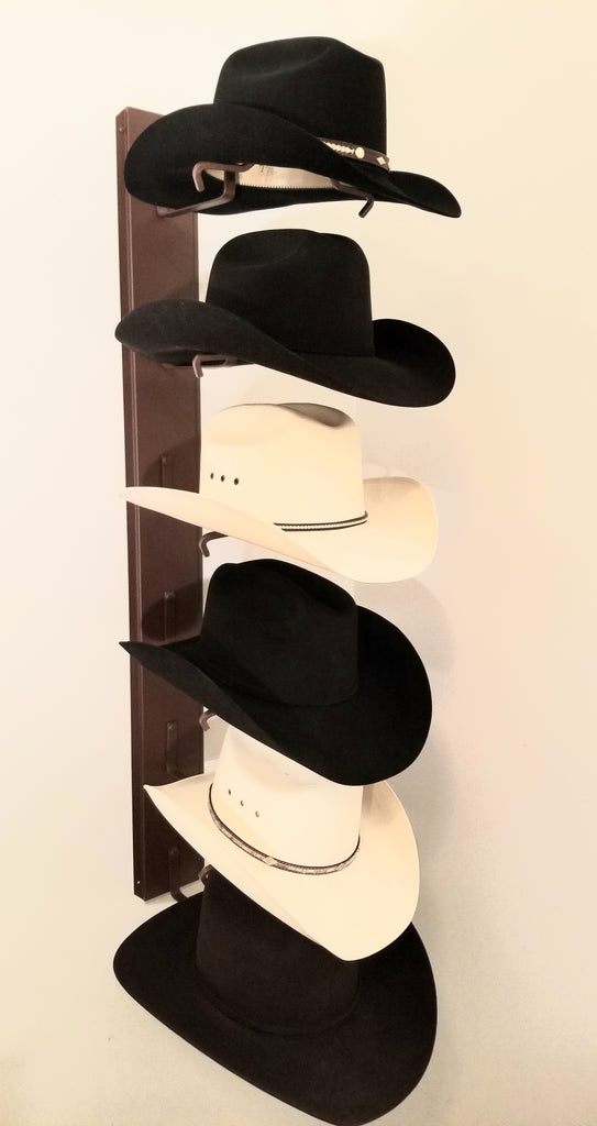 American Made Crown Up Six Hat Rack Rust by Mark Christopher Collection