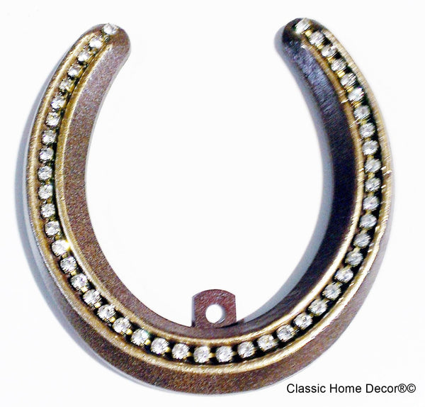 Lucky Lady Horseshoe with Rhinestones  Rust