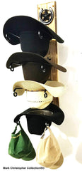Cowboy Hat Rack American Made Charred 4 HS/Lone Star