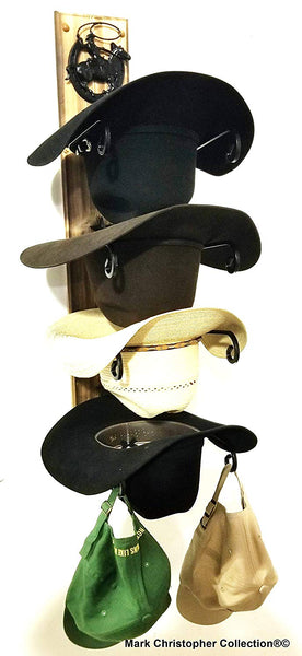 Cowboy Hat Rack American Made Charred 4 HS/Roper