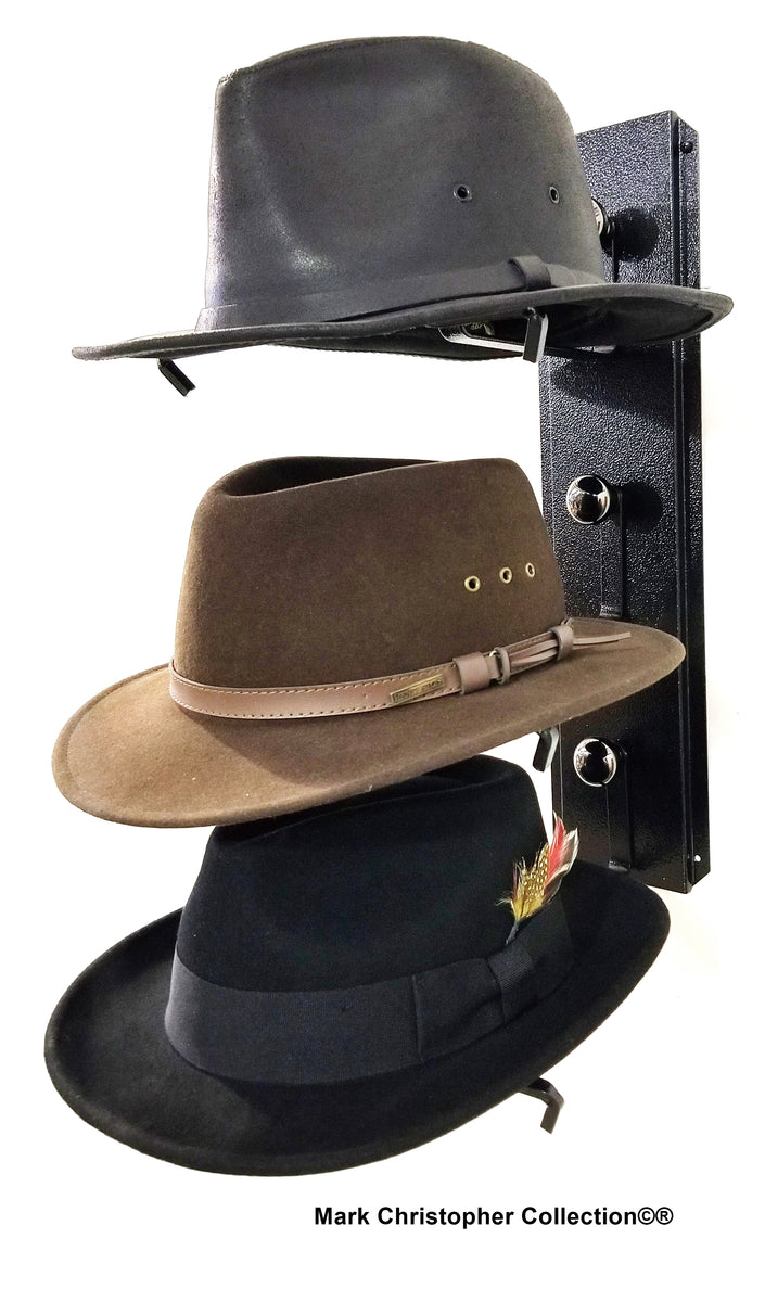 Fedora Hat Rack American Made Three Tier – Cowboy Hat Holders Superstore fbe3aad150cc