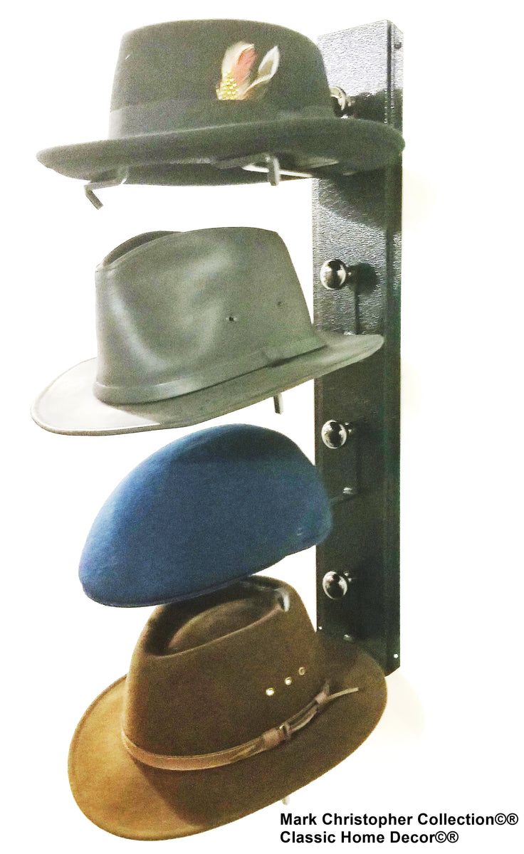5904b28529a Fedora Hat Rack American Made Four Tier – Cowboy Hat Holders Superstore