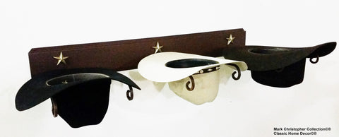 Wall Cowboy Hat Rack